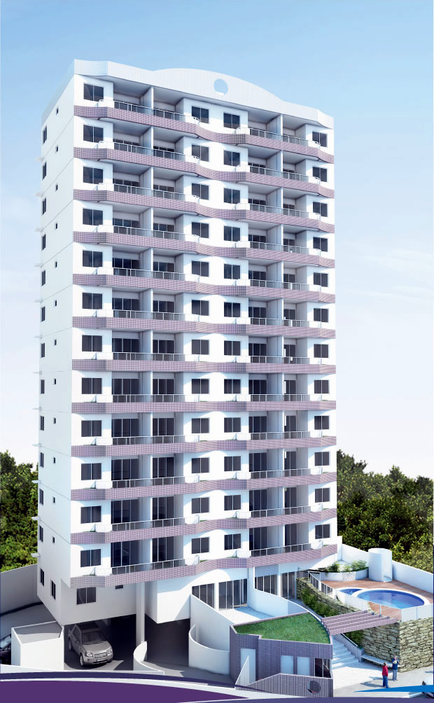 Perspectiva da fachada