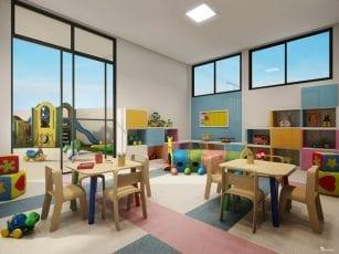 Perspectiva da Brinquedoteca e Parque Infantil