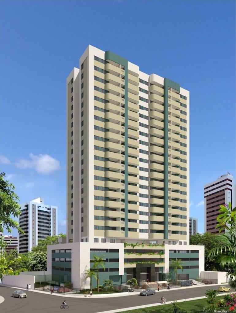 Perspectiva da fachada do Residencial Cidade de Ituberá