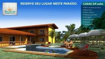 Perspectiva da fachada do Itacimirim Summer Houses