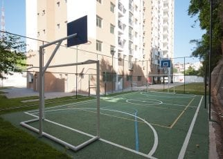 Foto da quadra poliesportiva do Ville Federação