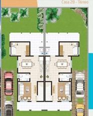 Planta Baixa - Casa 2B - Térreo