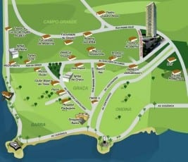 Mapa de localização do Serra Imperial da Graça