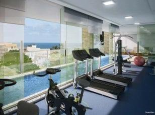 Perspectiva da Academia do Porto Atlântico Residencial