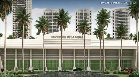 Perspectiva da fachada do Shopping Bela Vista