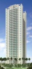 Perspectiva da fachada 140m2
