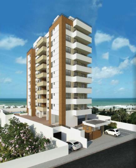 Perspectiva da fachada do Residencial Mar do Corsário