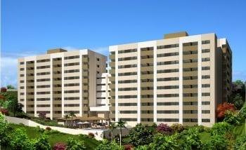 Perspectiva da fachada do Mirabeau Sampaio Residence