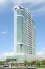 Perspectiva da fachada do Premier Tower Empresarial