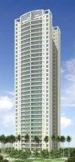 Perspectiva da fachada apartamentos com 120m2 do Condomínio Reserva das Flores