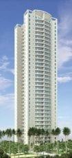 Perspectiva da fachada apartamentos com 97m2 do Condomínio Reserva das Flores