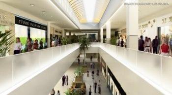 Perspectiva do corredor do Shopping Bela Vista