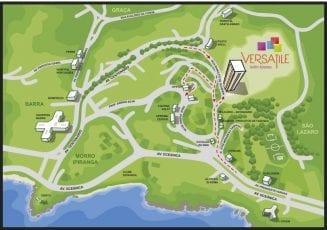 Perspectiva do mapa de localização