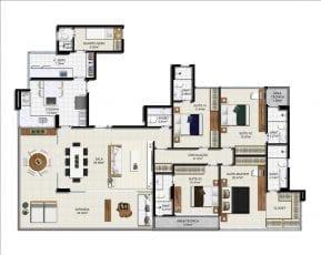 Planta baixa - Apartamento Tipo - Opção 2