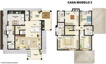 Planta baixa - Casa modelo 3