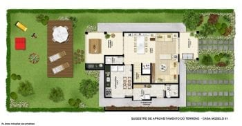 Planta baixa - Terreno Casa modelo 1