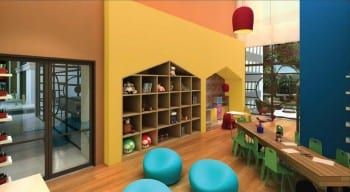Perspectiva do espaço kids da Mansão Bahiano de Tênis, 3 e 4 quartos na Graça