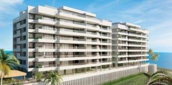 Perspectiva da fachada do La Vista Morro do Conselho, apartamento de luxo, requinte e sofisticação com 4 quartos no bairro do Rio Vermelho.