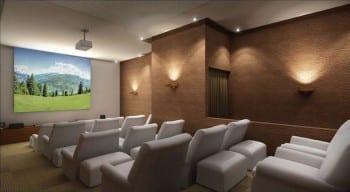 Perspectiva do Cinema da Mansão Bahiano de Tênis, 3 e 4 quartos na Graça