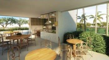 Perspectiva do Gourmet Externo da Mansão Bahiano de Tênis, 3 e 4 quartos na Graça