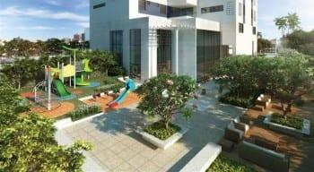 Perspectiva do Parque Infantil da Mansão Bahiano de Tênis, 3 e 4 quartos na Graça
