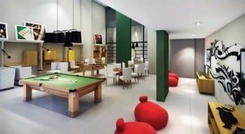 Perspectiva do Salão de Jogos da Mansão Bahiano de Tênis, 3 e 4 quartos na Graça
