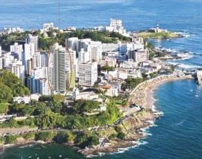Foto aérea com a perspectiva da fachada do La Vue Ladeira da Barra, apartamento 4 quartos no bairro da Barra em Salvador