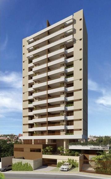 Perspectiva da fachada do Giardino Loreto, apartamentos a venda com 3 e 4 quartos no bairro da Graça em Salvador, Bahia.