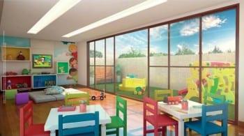 Perspectiva do Espaço Kids do Giardino Loreto, apartamentos a venda com 3 e 4 quartos no bairro da Graça em Salvador, Bahia.