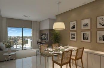 Perspectiva do living do Allure Residencias, apartamento 2 suítes no Jardim Armação em Salvador, Bahia