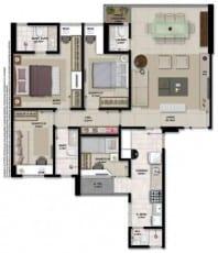 Apartamento à venda em Salvador do empreendimento Giardino Loreto com 3 quartos e dependência em 102,61m2 de área privativa no bairro da Graça.