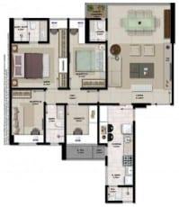 Apartamento à venda em Salvador do empreendimento Giardino Loreto com 3 quartos e gabinete em 102,61m2 de área privativa no bairro da Graça.