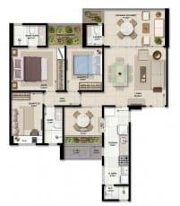 Apartamento à venda em Salvador do empreendimento Giardino Loreto com 3 quartos e suíte em 102,61m2 de área privativa no bairro da Graça.