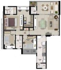 Apartamento à venda em Salvador do empreendimento Giardino Loreto com 3 quartos e suíte master em 102,61m2 de área privativa no bairro da Graça.