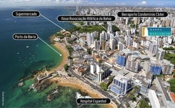 Perspectiva Fachada do Barra Exclusive, localizado no bairro da Barra, em Salvador.