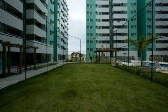 Campo de Futebol do empreendimento Città Lauro de Freitas, localizado na rua Prisco José de Souza, em Lauro de Freitas