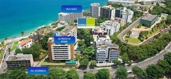 Foto aérea da localização do Ondina Choice Residence