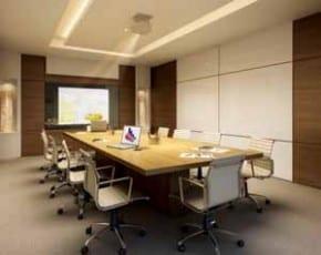 Perispectiva ilustrada da sala de reunião CEO Salvador Shopping
