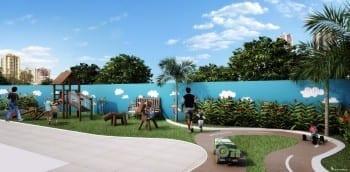 Perpesctiva Parque Infantil com Pista de Velotrol