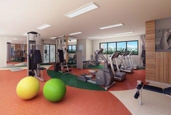 Perspectiva da academia de ginástica do Graça Lummini, um apartamento de luxo com 3 quartos no bairro da Graça, em Salvador, Bahia.