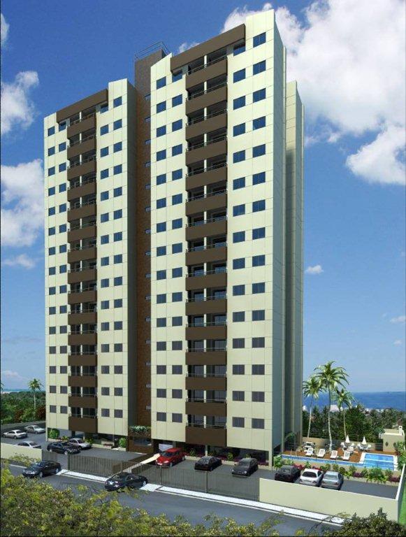 Perspectiva da fachada do Altos de Salvador Complete Residence, localizado no bairro de Luiz Anselmo, em Salvador, Bahia.