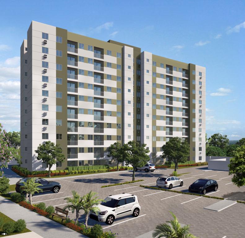 Perspectiva da Fachada do Itapuã Parque, apartamentos à venda em Salvador, Bahia com 2 quartos e 3 quartos no bairro de Itapuã.