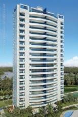 Perspectiva da fachada dos apartamentos de 200m² do Hemisphere 360