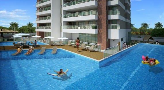 Perspetiva da piscina