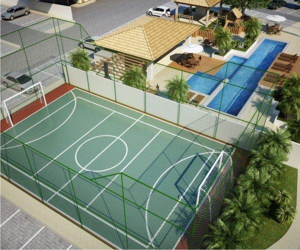 Perspectiva quadra poliesportiva do Jardins dos Girassóis.