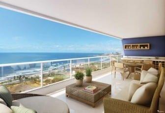 Perspectiva da varanda do apartamento 165m²