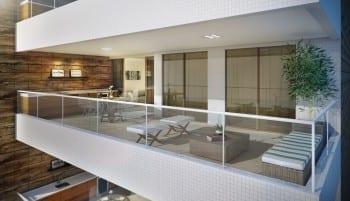Perspectiva da varanda do apartamento de 2 quartos do 5.ª Avenida Residence