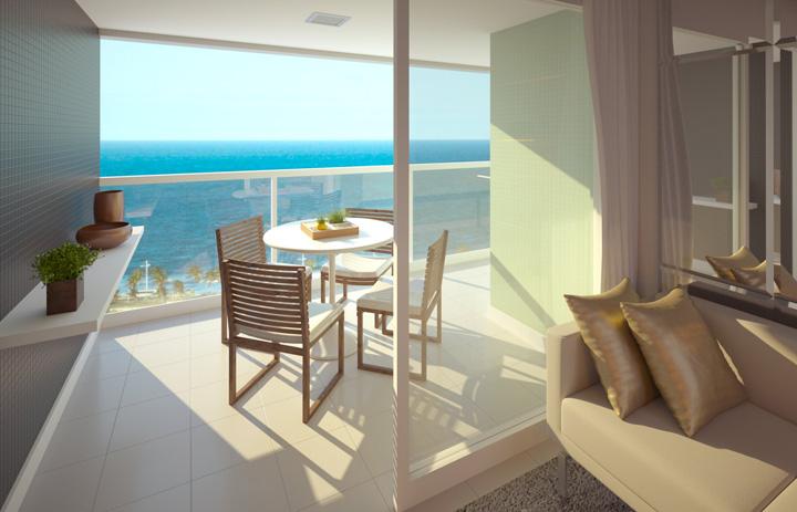Perspectiva da varanda do Atlântico Porto Residence