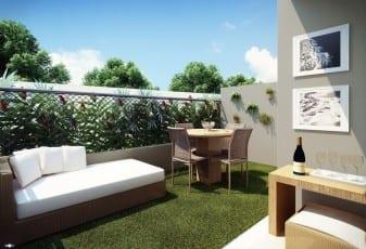 Perspectiva do Garden do Itapuã Parque, apartamentos à venda em Salvador, Bahia com 2 quartos e 3 quartos no bairro de Itapuã.