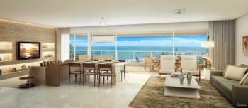 Perspectiva do living do apartamento de 165m² - opção 01